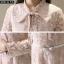ชุดเดรสเกาหลี พร้อมส่ง ชุดเดรสแขนยาว ผ้าลูกไม้ thumbnail 9