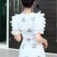 ชุดเดรสเกาหลี พร้อมส่ง Princess Dress ผ้าปักน้องผึ้ง thumbnail 4