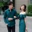 เสื้อผ้าเกาหลี พร้อมส่ง เดรสปาดไหล่ กับ เสื้อเชิ้ต ชาย thumbnail 4