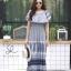 ชุดเดรสเกาหลี พร้อมส่ง Dress ปร้ินลายเชิง แต่งระบายรอบตัว thumbnail 16