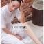 เดรสเกาหลี พร้อมส่ง ชุดเดรส ปักลายสีขาวทรงคอสูง thumbnail 7