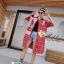 เดรสเกาหลี พร้อมส่ง Dress คอปกเชิ๊ต ลายสก๊อต thumbnail 12