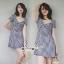 เดรสเกาหลี พร้อมส่ง Mini dress ลายตาราง Scott thumbnail 1