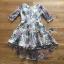 เดรสเกาหลี พร้อมส่ง ค็อกเทล เดรสผ้าลูกไม้ ทอลายดอกไม้ thumbnail 12