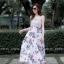 เดรสเกาหลี พร้อมส่ง Maxi dress ลายดอก thumbnail 1