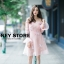 ชุดเดรสเกาหลี พร้อมส่ง ชุดเปิดไหล่ style เจ้าหญิง ฟูฟ่อง thumbnail 14