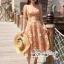 เดรสเกาหลี พร้อมส่ง ชุดเดรส ผ้าโปร่ง ปักทอดอกไม้สีส้ม thumbnail 14