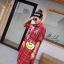 เดรสเกาหลี พร้อมส่ง Dress คอปกเชิ๊ต ลายสก๊อต thumbnail 15