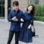 ชุดเดรสเกาหลี พร้อมส่ง เดรสผ้า cotton กับ เสื้อเชิ้ต ชาย thumbnail 4