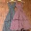 ชุดเดรสเกาหลี พร้อมส่ง Maxi dress ลายสก๊อต เอวสม๊อค thumbnail 7