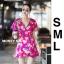 เสื้อผ้าเกาหลี พร้อมส่ง จั้มสูท ขาสั้นสีสันสดใส thumbnail 6