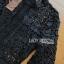 พร้อมส่ง จัมป์สูทขายาวผ้าลูกไม้สีดำและกางเกงสีน้ำเงิน thumbnail 8