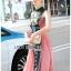 ชุดเดรสเกาหลี พร้อมส่ง เดรสยาว สองสีปักลายสไตล์จีน thumbnail 12