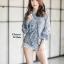 เสื้อเกาหลี พร้อมส่ง เสื้อชีฟอง ลายดอกมีระบาย thumbnail 12