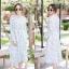 เดรสเกาหลี พร้อมส่ง Maxi dress คอจีน thumbnail 3