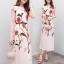 ชุดเดรสเกาหลี พร้อมส่ง ชุดเดรส ผ้าซาตินซิลพิมพ์ลาย thumbnail 2