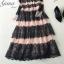 ชุดเดรสเกาหลี Maxi dress พิมพ์ลายดอก ทรงอกป้ายไขว์ thumbnail 13