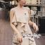 เดรสเกาหลี พร้อมส่ง มินิเดรส ผ้าเครปโทนสีครีม thumbnail 15
