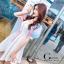 เดรสเกาหลี พร้อมส่ง เดรสทรงแขนพองๆเล่นสีสวย thumbnail 3