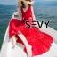 พร้อมส่ง เดรสยาวสีแดงสดใส ผูกโบว์ที่บ่า thumbnail 8