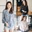 เสื้อเกาหลี พร้อมส่ง เสื้อชีฟอง ลายดอกมีระบาย thumbnail 19