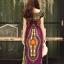 ชุดเดรสเกาหลี พร้อมส่ง Dress ผ้าฝ้ายผสมลินิน พิมพ์ลาย thumbnail 9