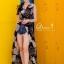 เดรสเกาหลี พร้อมส่ง Maxi Dress คอปก แขนกุด thumbnail 5