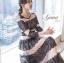 ชุดเดรสเกาหลี Maxi dress พิมพ์ลายดอก ทรงอกป้ายไขว์ thumbnail 3