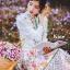 ชุดเดรสเกาหลี พร้อมส่ง เดรสแขนล้ำ คอปก ลายดอกไม้ thumbnail 11