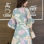 เดรสเกาหลี พร้อมส่ง Dress เดรสสั้น ลายดอก thumbnail 13