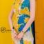 เดรสเกาหลี พร้อมส่ง Maxi Dress คอปก แขนกุด thumbnail 2