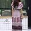 ชุดเดรสเกาหลี พร้อมส่ง Dress ปร้ินลายเชิง แต่งระบายรอบตัว thumbnail 11