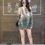 เสื้อเกาหลี พร้อมส่ง เสื้อเชิ้ต คอจีน ลายไทย thumbnail 3