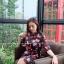 เดรสเกาหลี พร้อมส่ง เดรสชีฟอง พิมลาย thumbnail 4