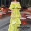ชุดเดรสเกาหลี พร้อมส่ง Maxi Dress เปิดไหล่ thumbnail 3