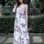 เดรสเกาหลี พร้อมส่ง Maxi dress ลายดอก thumbnail 2