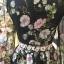 ชุดเดรสเกาหลี พร้อมส่ง ชุดเดรส ลื่นมันเงา ปริ้นลายดอกไม้ thumbnail 7