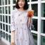 เสื้อเกาหลี พร้อมส่ง เสื้อกึ่ง มินิเดรส ลายดอกวินเทจ thumbnail 6