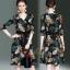 เดรสเกาหลี พร้อมส่ง Dress คอวี แขน 3 ส่วน thumbnail 7