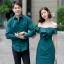 เสื้อผ้าเกาหลี พร้อมส่ง เดรสปาดไหล่ กับ เสื้อเชิ้ต ชาย thumbnail 3