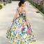 ชุดเดรสเกาหลี พร้อมส่ง เดรสลายดอกไม้ ผ้าพริ้ว thumbnail 3