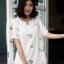 เสื้อเกาหลี พร้อมส่ง เสื้อญ๊่ปุ่น ปักดอกวินเทจ thumbnail 6