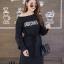 ชุดเดรสเกาหลี พร้อมส่ง Long Dress เดรสแขนยาวเปิดไหล่ thumbnail 5