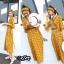 ชุดเดรสเกาหลี พร้อมส่ง แม็กซี่เดรส ลายไทย เนื้อผ้าไหม thumbnail 4