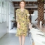 ชุดเดรสเกาหลี พร้อมส่ง Dress ลายดอกระบายทรงwrap thumbnail 1