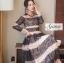 ชุดเดรสเกาหลี Maxi dress พิมพ์ลายดอก ทรงอกป้ายไขว์ thumbnail 6
