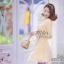 เดรสเกาหลี พร้อมส่ง เดรสสั้น แต่งผ้าซีทรูชั้นนอก thumbnail 6