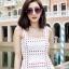 ชุดเดรสเกาหลี พร้อมส่ง Dress Ks สายเดี่ยวเส้นใหญ่ thumbnail 4