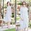 เดรสเกาหลี พร้อมส่ง Maxi dress คอจีน thumbnail 2