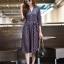 ชุดเดรสเกาหลี พร้อมส่ง Dress คอวี แขน 5ส่วน thumbnail 4